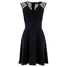 Buy Warehouse Lace Shoulder Dress, Midnight Online at johnlewis.com