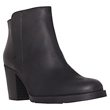 Buy Kurt Geiger Soda Leather Block Heel Ankle Boots, Black Online at johnlewis.com