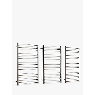 John Lewis Whitsand Dual Fuel Heated Towel Rail and Pipes, from the Wall