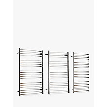 Buy John Lewis Whitsand Dual Fuel Heated Towel Rail and Pipes, from the Wall Online at johnlewis.com