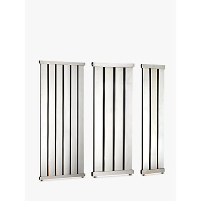 John Lewis Lyme 1460 Dual Fuel Heated Towel Rail and Valves, from the Wall