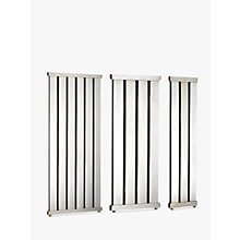 Buy John Lewis Lyme 1460 Dual Fuel Heated Towel Rail and Valves, from the Wall Online at johnlewis.com