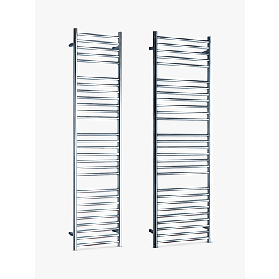 John Lewis Brook Central Heated Towel Rail and Valve, from the Floor