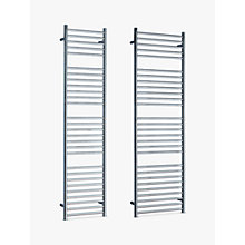 Buy John Lewis Brook Central Heated Towel Rail and Valves, from the Wall Online at johnlewis.com