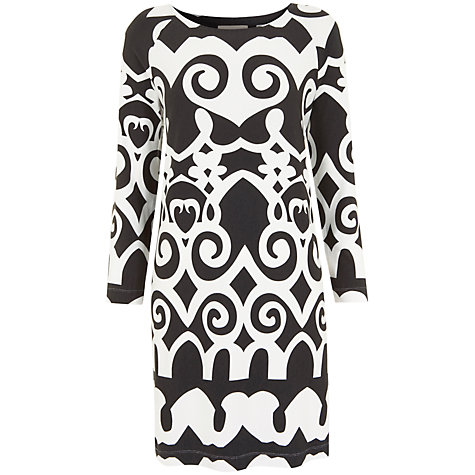 Buy Havren Morrocan Tunic Dress, Chocolate/White Online at johnlewis.com