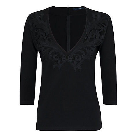 Buy French Connection Marie Embroidered Top Online at johnlewis.com