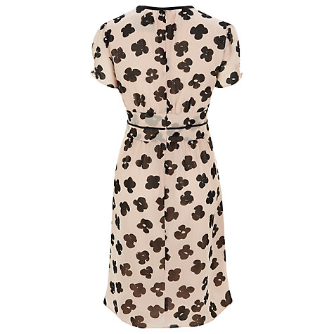 Buy Havren Printed Silk Chiffon Dress, Black/Pink Online at johnlewis.com