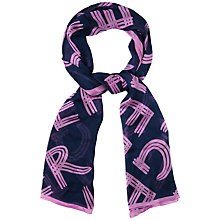 Buy Jaeger Logo Long Scarf, Navy Online at johnlewis.com