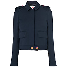Buy Boutique by Jaeger Button Military Jacket, Navy Online at johnlewis.com