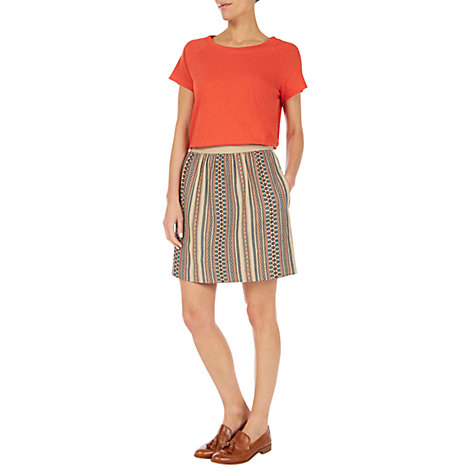 Buy NW3 by Hobbs Florence T-Shirt, Saffron Online at johnlewis.com