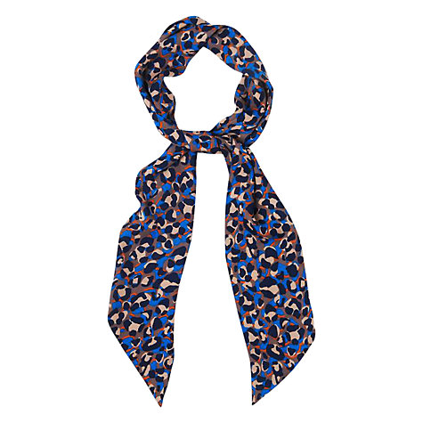 Buy Jaeger Animal Skinny Scarf, Blue Online at johnlewis.com