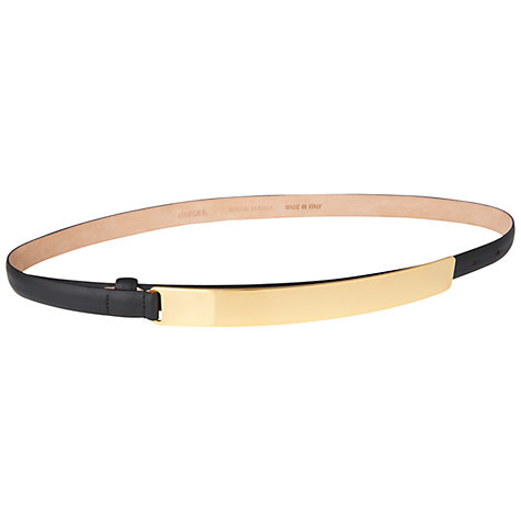 Buy Jaeger Buckle Trouser Belt, Gold Online at johnlewis.com