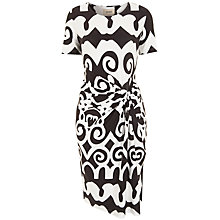Buy Havren Morrocan Print Dress, Chocolate/White Online at johnlewis.com