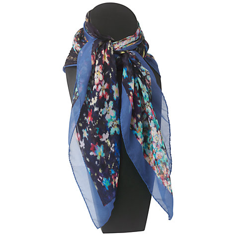 Buy Jaeger Digital Floral Scarf, Dark Multi Online at johnlewis.com