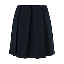 Buy Boutique by Jaeger Pleated Mini Skirt, Navy Online at johnlewis.com