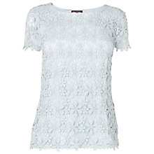 Buy Phase Eight Calista Crochet Top, Mist Online at johnlewis.com