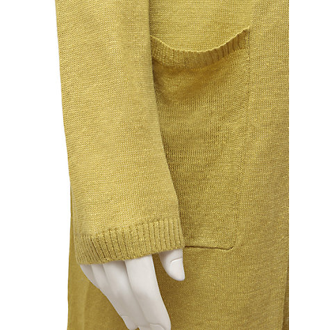 Buy East Linen Longline Cardigan, Sour Online at johnlewis.com