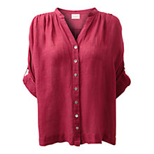 Buy East Soft Linen Gauze Shirt, Wineberry Online at johnlewis.com