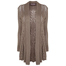 Buy Phase Eight Paula Pointelle Cardigan, Mink Online at johnlewis.com