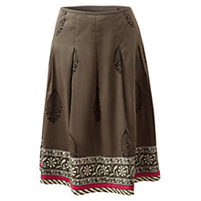 Buy East Booti Motif Skirt, Khaki Online at johnlewis.com