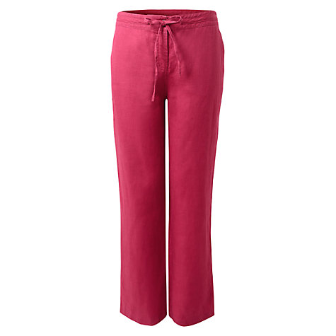 Buy East Drawstring Linen Trousers, Wineberry Online at johnlewis.com