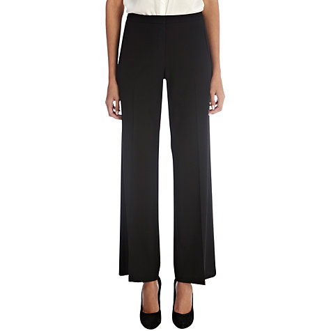 Buy Oasis Angel Wide Leg Trousers, Black Online at johnlewis.com
