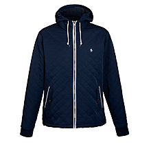 Buy Original Penguin Quilted Hooded Ratner Jacket, Blue Online at johnlewis.com