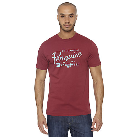 Buy Original Penguin The Script Logo T-Shirt Online at johnlewis.com
