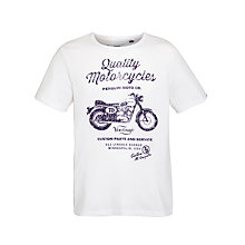 Buy Original Penguin Motorcycle Tee, White Online at johnlewis.com