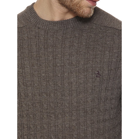 Buy Original Penguin Merino Cable Crew Neck Jumper Online at johnlewis.com