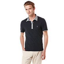 Buy Original Penguin The Stan Polo Shirt, Dark Sapphire Online at johnlewis.com