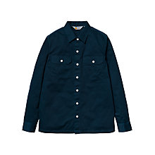 Buy Carhartt Master Cotton Shirt, Dark Navy Online at johnlewis.com