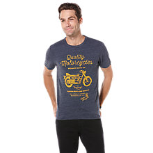 Buy Original Penguin Vintage Motorcyle Print T-Shirt, Dark Sapphire Online at johnlewis.com