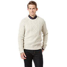 Buy Original Penguin Cable Knit Jumper, Neutrals Online at johnlewis.com