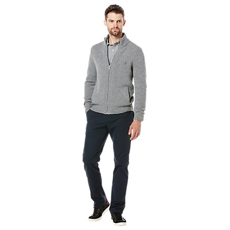 Buy Original Penguin Pure Wool Cardigan, Grey Marl Online at johnlewis.com