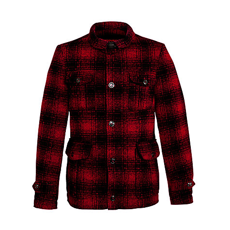 Buy Woolrich John Rich & Bros. Mackenzie Wool Hunting Jacket, Red/Black Online at johnlewis.com