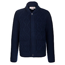 Buy Original Penguin Cable Knit Cardigan, Blue Online at johnlewis.com