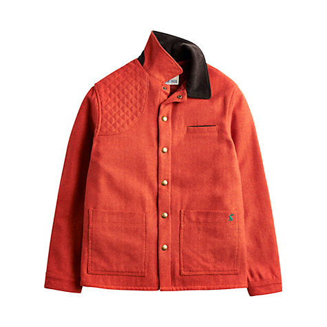 Buy Joules Winsted Herringbone Coat, Tobasco Online at johnlewis.com