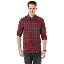 Buy Original Penguin Check Cotton Shirt, Pomegranate Online at johnlewis.com