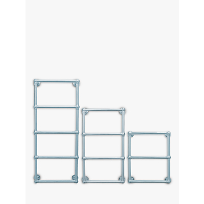 John Lewis Seagrove Central Heated Towel Rail and Valves, from the Wall