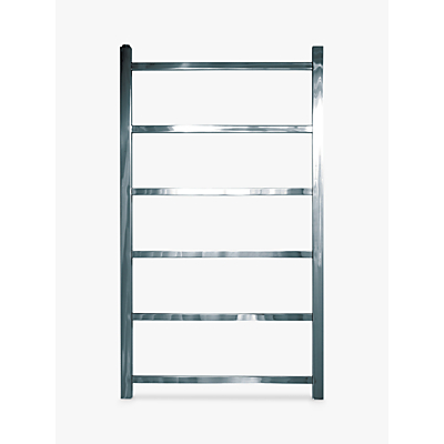 John Lewis Peel 900 Dual Fuel Heated Towel Rail and Valves, from the Wall