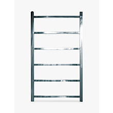 Buy John Lewis Peel 900 Dual Fuel Heated Towel Rail and Valves, from the Wall Online at johnlewis.com