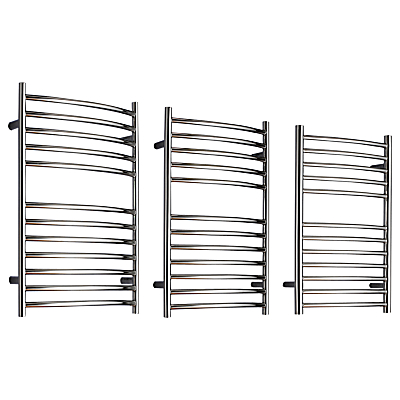John Lewis Sandsend Central Heated Towel Rail and Valves, from the Wall