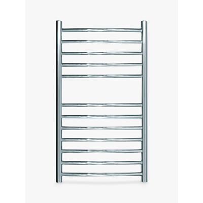 John Lewis Sandsend Dual Fuel Heated Towel Rail and Valves, from the Wall