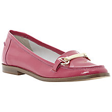 Buy Dune Leo Bright Snaffle Front Loafers, Pink Online at johnlewis.com