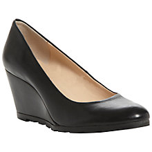 Buy Dune Atreat Wedged Court Shoes, Black Online at johnlewis.com