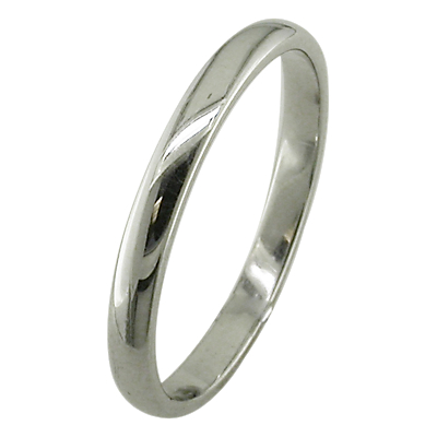 EWA 18ct White Gold 2.5mm Court Wedding Ring, White Gold