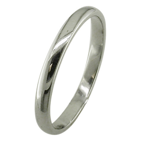 Buy EWA 18ct White Gold 2.5mm Court Wedding Ring, White Gold Online at johnlewis.com