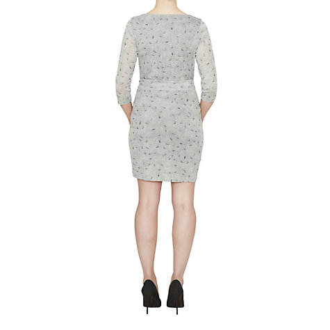 Buy James Lakeland Printed Leaf Dress, Grey Online at johnlewis.com