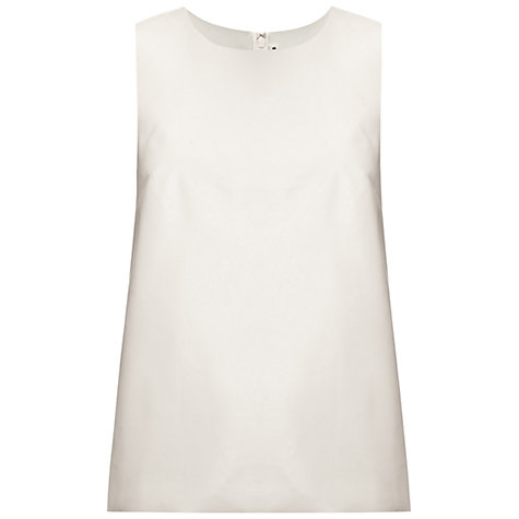 Buy Whistles Faux Leather Vest Top, Ivory Online at johnlewis.com